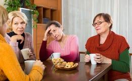 Унылые старшие женские друзья стоковое фото rf