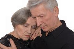 Унылые старшие пары Стоковое Фото