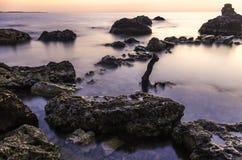Унылый заход солнца Стоковая Фотография