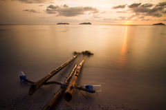 Унылый заход солнца Стоковая Фотография RF