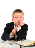Унылый и надоеданный школьник Стоковое фото RF