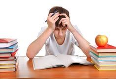 Унылый и утомленный студент стоковое изображение