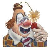 Унылый клоун с холодом Стоковые Изображения