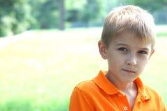 Унылый мальчик Стоковое Фото