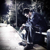 Унылый молодой человек внешний Стоковые Фото