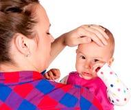 Унылый младенец Стоковое фото RF