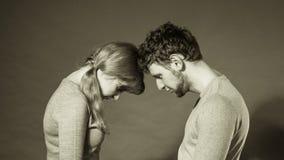 Унылый подавленный портрет пар Стоковое Фото