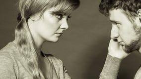 Унылый подавленный портрет пар Стоковые Фото