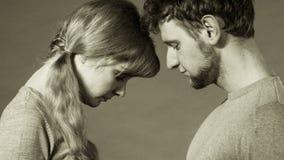 Унылый подавленный портрет пар Стоковая Фотография RF