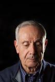 Унылый старший человек Стоковая Фотография