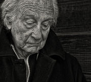 Унылый старший человек Стоковая Фотография RF