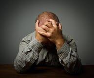 Унылый человек стоковое фото rf