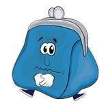 Унылый шарж бумажника Стоковое Фото