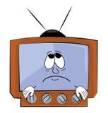 Унылый шарж ТВ Стоковое Изображение