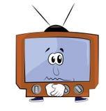 Унылый шарж ТВ Стоковая Фотография