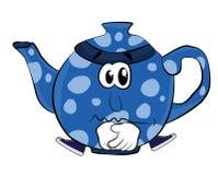 Унылый шарж чайника Стоковые Изображения
