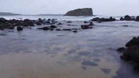 Унылый шторм развевает Seascape океана мечтательный видеоматериал