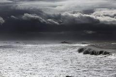Унылый seascape Стоковые Фотографии RF