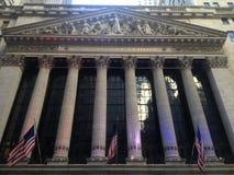 Уолл-Стрит сигнализирует панорамное стоковое изображение rf