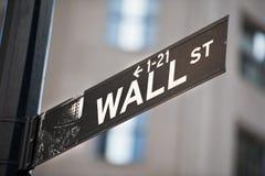 Уолл-Стрит Нью-Йорк Стоковые Изображения RF