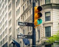 Уолл-Стрит, Нью-Йорк Стоковое Фото
