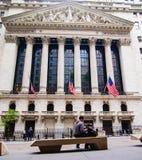 Уолл-Стрит, NYSE Стоковое Изображение RF