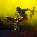 дуо танцоров самомоднейшее стоковое фото