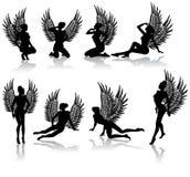 упаденная темнота ангела иллюстрация вектора
