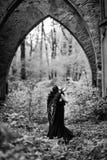 Упаденный ангел с черными крылами Стоковое Изображение RF