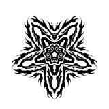 упаденный вектор символа звезды глифа Стоковые Фото