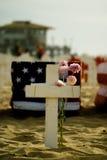 упаденный крест Стоковое Изображение