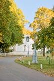 упаденный осенью пейзаж листьев фонариков Стоковое Изображение RF