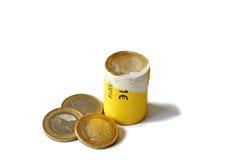 упакованное евро 2 монеток Стоковые Изображения RF