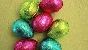 Упакованные пасхальные яйца видеоматериал