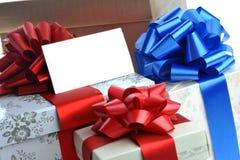 упакованные подарки Стоковые Изображения
