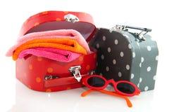 упакованные чемоданы Стоковая Фотография RF