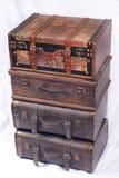 упакованные чемоданы Стоковое Фото