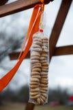 Упакованный в бейгл целлофана Стоковое Фото