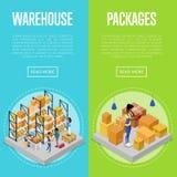 Упаковка поставки и комплект управления склада бесплатная иллюстрация