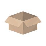Упаковка силуэта открытая и пустая иллюстрация вектора