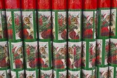 Упаковочная бумага рождества Стоковые Изображения