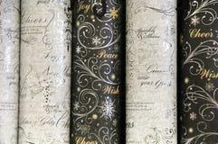 Упаковочная бумага Rolls приветственного восклицания праздника Стоковые Фотографии RF