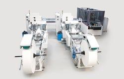 Упаковывать и печатные машины стоковые изображения rf