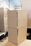 упаковывать коробок Стоковое Фото