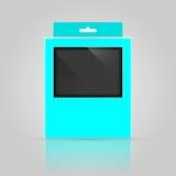 Упаковывая дизайн модель-макета коробки Стоковое Фото