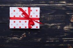 Упаковывая подарочная коробка с космосом экземпляра Стоковое фото RF