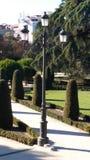упаденная ангелом статуя Испании retiro парка madrid Стоковые Фотографии RF
