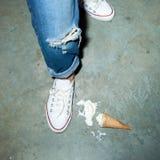 Упаденное мороженое Стоковая Фотография RF