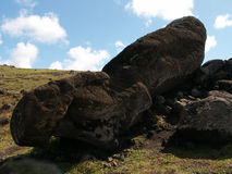 Упаденное Moai Стоковое Изображение RF