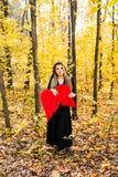 Упаденный ангел с красными крылами halloween Стоковая Фотография